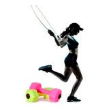 Pesas 1 Kg + Lazo, Ejercicio Pilates Yoga