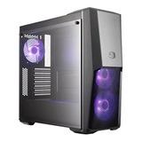 Chasis Cm Masterbox Mb500, 3 X Fans Rgb, Vidrio Templado
