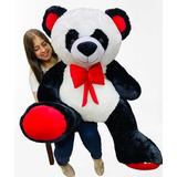 Oso Panda De Peluche Gigante 1,40 Metros + Envío Gratis Perf
