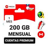 Cuentas Premium Mega 1 Mes 200 Gigas Envió Inmediato.