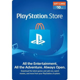Psn 10 - Playstation Network 10 Usd - (el Mejor Precio)