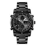 Reloj Digital En Acero Inoxidable Skmei 1389 - Original