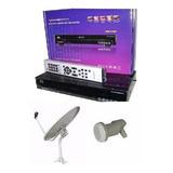 Kit Tv Satelital Fta Receptor S810b Hd + Antena 60cm + Lnb K