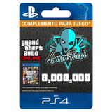 $8.000.000 Dinero + Rp Gta V Online - Ps4 - Servicio Premium