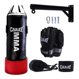 Saco De Boxeo Pro Agarre + Base +guante De Mma +vendas Caray