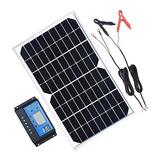 Kit De Panel Solar 10 W, 20 W, 100 W, 12 V