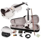 Violin Acustico Electrico Tuner Blanco Tilo Con Eq 4/4 Bassw