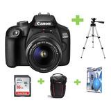 Camara Canon Eos 4000d- Rebel T100+18-55+16gb+bolso+kit+trip