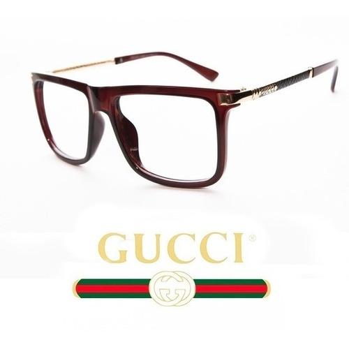 eaf0c1fbd4 Montura De Lujo Gucci Bordo Unisex - Envio Incluido