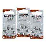 18 Pilas Para Audífono #312. Rayovac Extra Originales 1.45 V