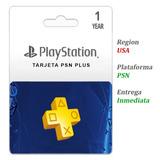 Playstation Plus 1 Año 12 Meses Ps4 Psn Codigo Usa