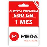 Cuenta Premium Mega 500 Gigas 30 Días, Entrega Inmediata.