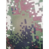 Tela Antifluidos Camuflada Militar Nacional 1.50 Ancho X Mt