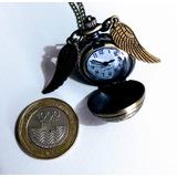 Reloj De Bolsillo Snitch Harry Potter Collar Quidditch Corta