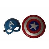 Mascara + Escudo Capitán América Grueso Avengers Marvel *