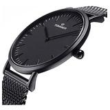 Reloj De Cuarzo Con Reloj De Hombre De Acero Inoxidable Negr