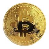 Moneda Conmemorativa Bitcoin Dorada ( Digital Decentralized)