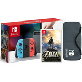 Nintendo Switch + Zelda Breath Of The Wild. Neon + Estuche