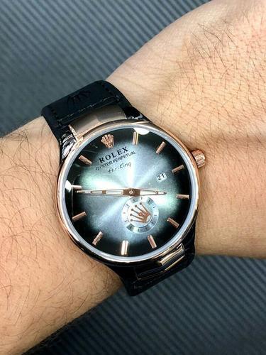 Reloj Rolex Hombre Cuero Calendario Segundero Lateral 0e6bfd57eb0c