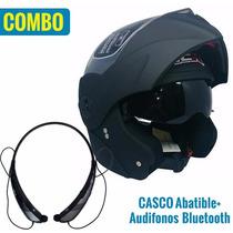Combo Casco Abatible Ich Doble Visor + Audífonos Bluetooth