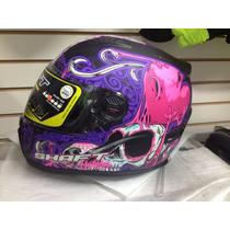 Casco Motociclista Shaft 581 Katrina De Dama