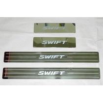 Pisapuertas Suzuki Swift En Acero Inoxidable - Kit 4 Puertas