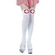 Enfermera Disfraces - Damas Blanco Travieso Arco Medias