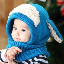 Gorro Tejido En Lana Para Bebés Niña Y Niño Con Cuello