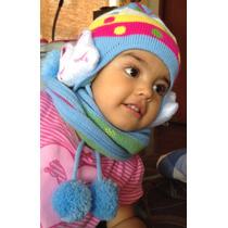 Gorro Y Bufanda Para Bebés Y Niñas