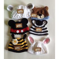 Gorro Bebe 0-6m Tejido A Mano Crochet Animalitos Niño Niña