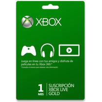 Suscripcion Xbox Live Gold 1 Mes Tarjeta Mundial Microsoft
