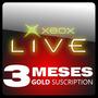 Xbox Live 3 Meses Game Card Membrecia Oro Xbox360 Xboxone