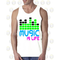 Camisilla Hombre Esqueleto 100% Algodon Gym - Music Is Life