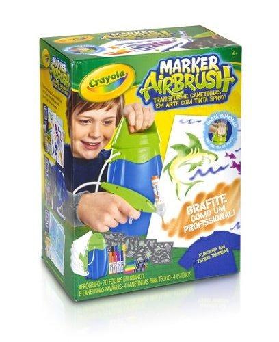 Aerografo crayola marker airbrush set importado for Aerografo crayola amazon