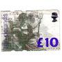 Estampilla De 10 Libras De Gran Bretaña