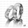 Argollas Matrimonio O Compromiso En Plata 950+zircon Vr C/u