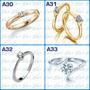 Anillo De Diamante Certificado - Oro De 18 Ktes