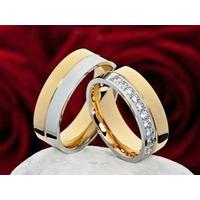 Argollas -anillos- Bodas- Matrimonios- Acero--enchapados-