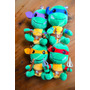 Las Tortugas Ninja Peluches Bebes 18 Cms Importados