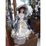 Muñeca Antigua De Colección Italiana Con Porcelana Marcada