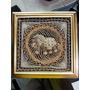 Cuadro Indu De Elefante Tela Bordado A Mano Antiguo