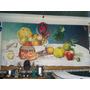 Cuadro Bodegon Tipo Mural Original Oleo Sobre Lienzo Firmado