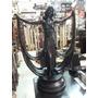 Escultura De Musa Francesa En Marmolina Con Rompeviento