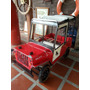 Jeep Willis Antiguo En Hojalata De Pedal De Colección Grande