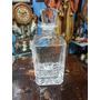 Licorera Francesa Antigua En Cristal Con Tapa Tallada