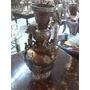 Florero Antiguo Japones En Bronce Y Cobre Tallado