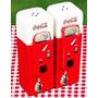 Salero Y Pimentero, En Forma De Maquina Expendedora Coca-col