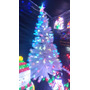 Árbol Navidad Fibra Óptica Y Led 2.10 Metros