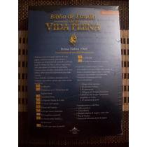 Biblia De Estudio De La Vida Plena, Rvr60, Piel Negro