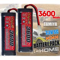 Batería Ni-mh Conector Tamiya 3600 Mah 7.2 Voltios 6 Celdas